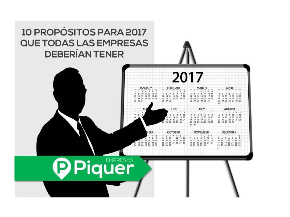 10 propósitos empresariales para 2017