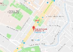 mapa localización Paseo Fernando el Católico 45 Zaragoza