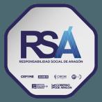 RSA, sello de Responsabilidad Social en Aragón, concedido por el Instituto Aragonés de Fomento del Gobierno de Aragón.