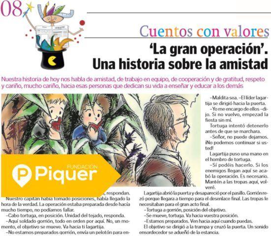 'La gran operación' en Heraldo Escolar