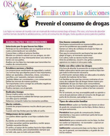 Prevenir el consumo de drogas
